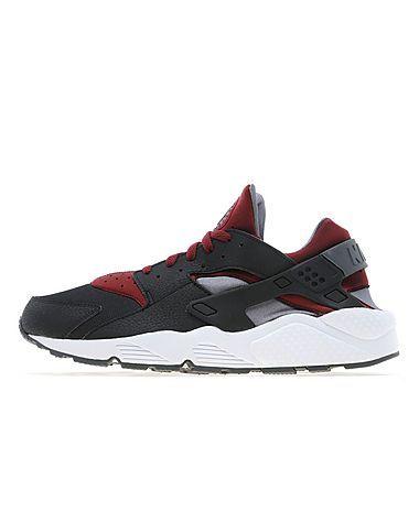 best service 47599 ee304 Nike Air Huarache Black Red-Grey
