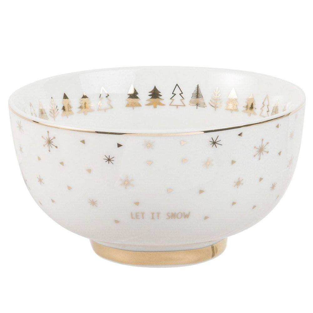 Bol De Noel Décorations de Noël | Bol en porcelaine, Porcelaine blanche