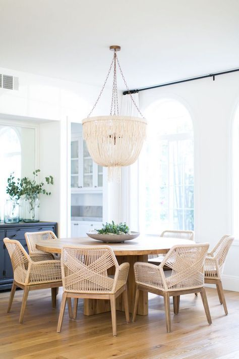 BECKI OWENS-- Las Palmas Living + Dining Room Reveal. See this beautiful coastal bohemian space + sources to get the look today on the blog!