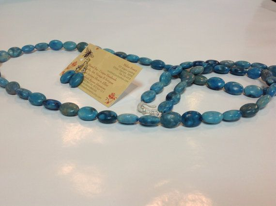 Blue stone washed Howlite dyed beads to look by BlessedBeeMelisa, $34.95