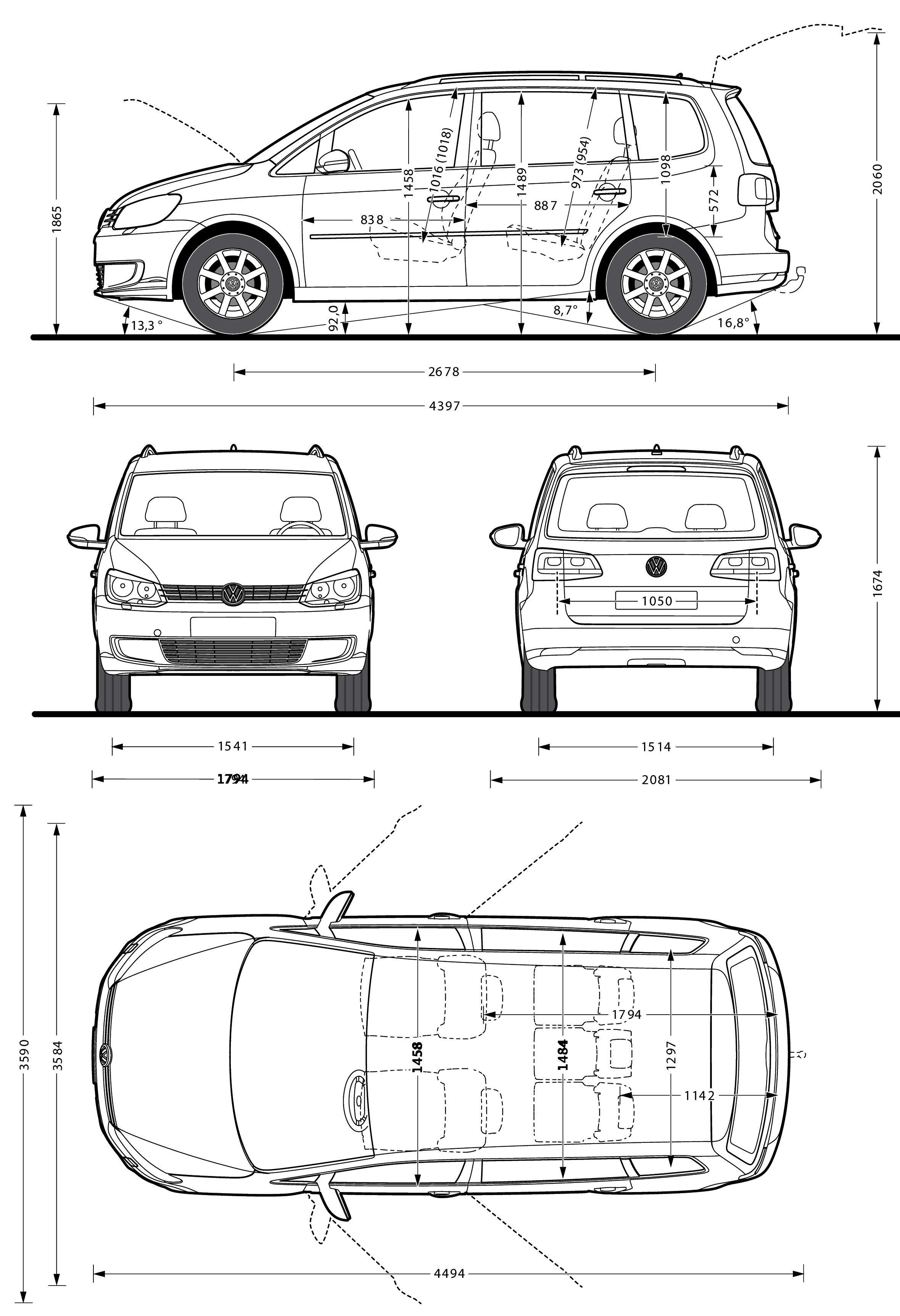 Volkswagen Touran Altijd Handig Om De Maten Te Weten