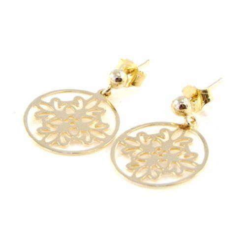 """Earrings plated gold """"Chorégraphie"""". Les Tresors de Lily. $29.00"""