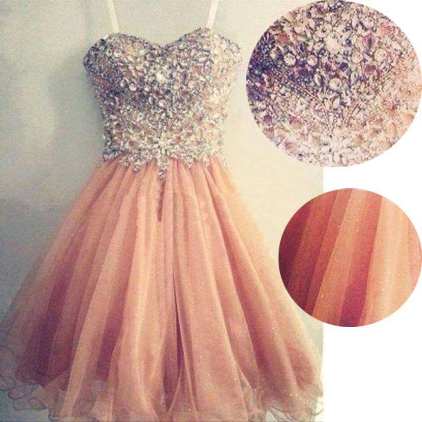 무료 배송 등이없는 연인 산호 색 들러리 드레스 2017 민소매 honor 웨딩 드레스 핑크 짧은 댄스 파티 드레스