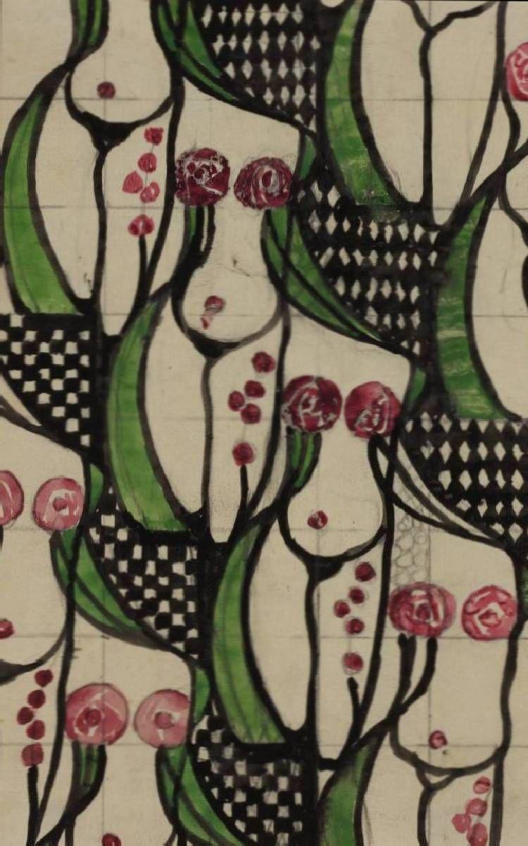 Charles Rennie Mackintosh. Textile design: Odalisque 1915-1923