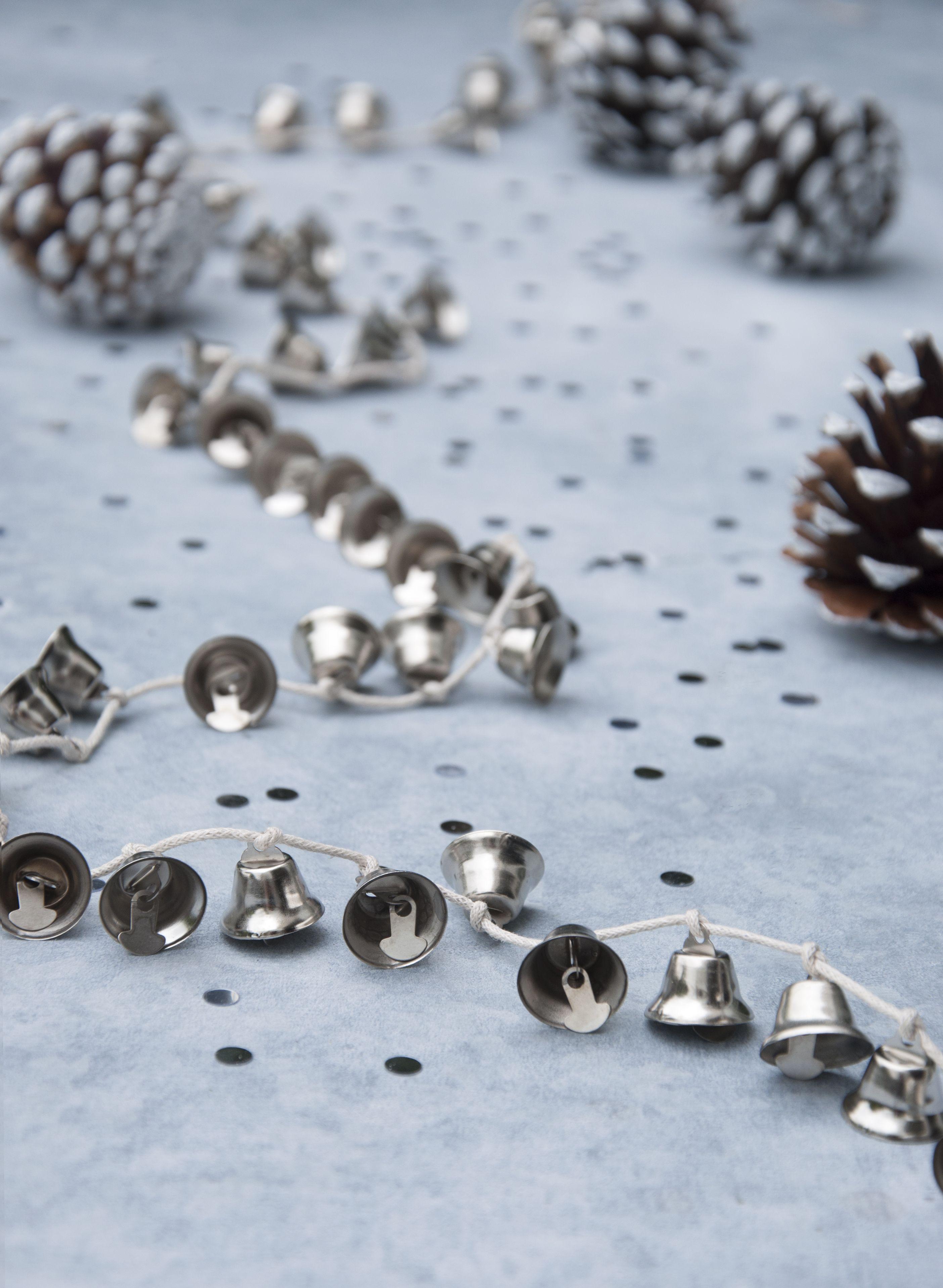 Jingle Bell Garland Silver Jingle Bells Garland Price 895 Christmas