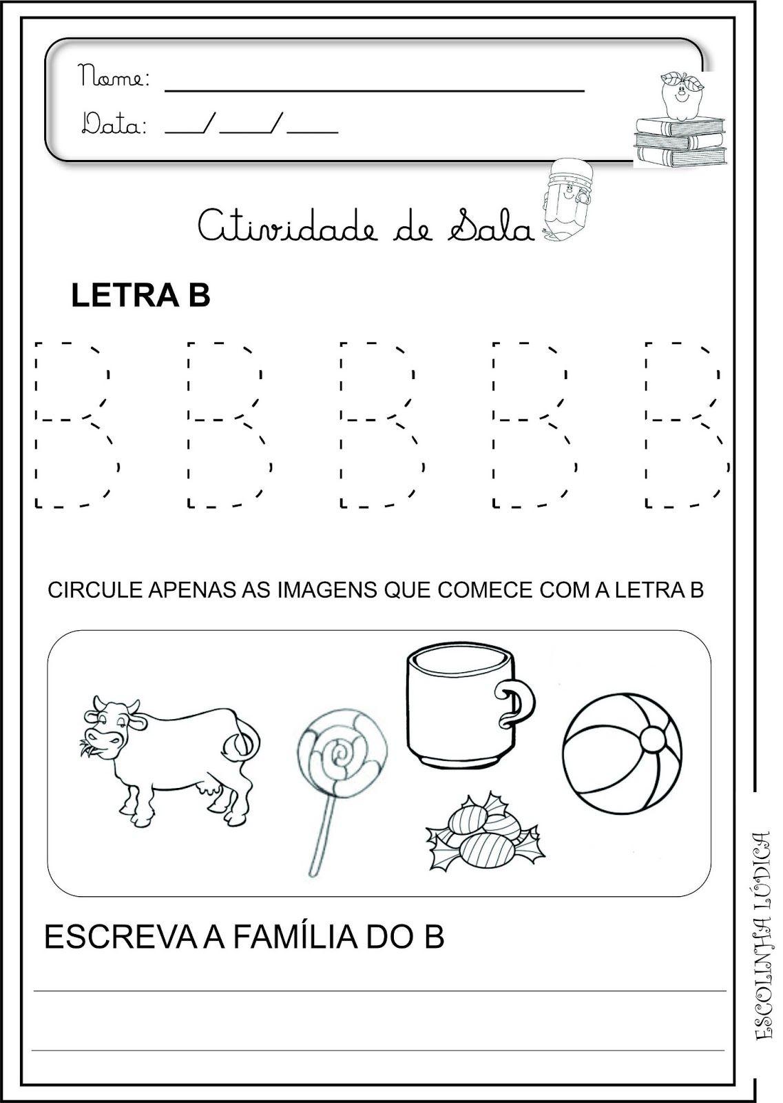 Image Result For Atividades Letra B Educacao Infantil Letra B