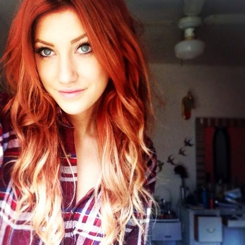 Red Ombre Yes I Would Have To Darken My Roots Maybe Though Ombre Hair Blonde Hair Styles Ombre Hair Color