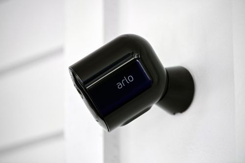 Keep an eye on your home or business day and night with Arlo Pro 3. With no wires, you can install Pro 3 in minutes and view video directly from your phone. Spot unique details with color night vision, and see more in dark areas with the integrated spotlight. The advanced lens provides superior image quality and a wider field of view, and allows you to track and zoom on moving objects with clarity. Receive notifications when your camera spots people, vehicles, animals, or packages, and view live