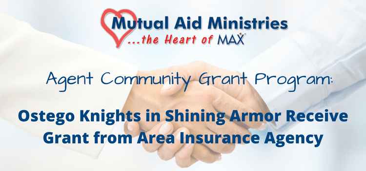 Ostego Knights In Shining Armor Receive Grant From Area Insurance Agency Knight In Shining Armor Community Grants Insurance Agency