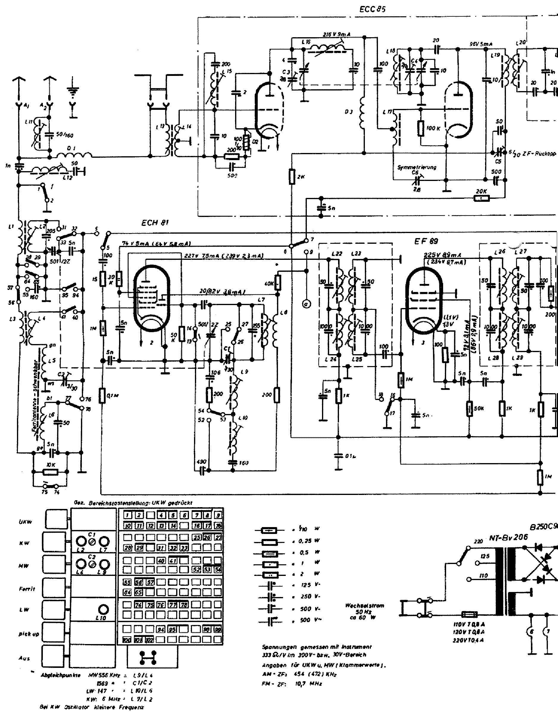 IMPERIAL CONTINENTAL-RUNDFUNK J 349W AM-FM RADIO 1954 SCH
