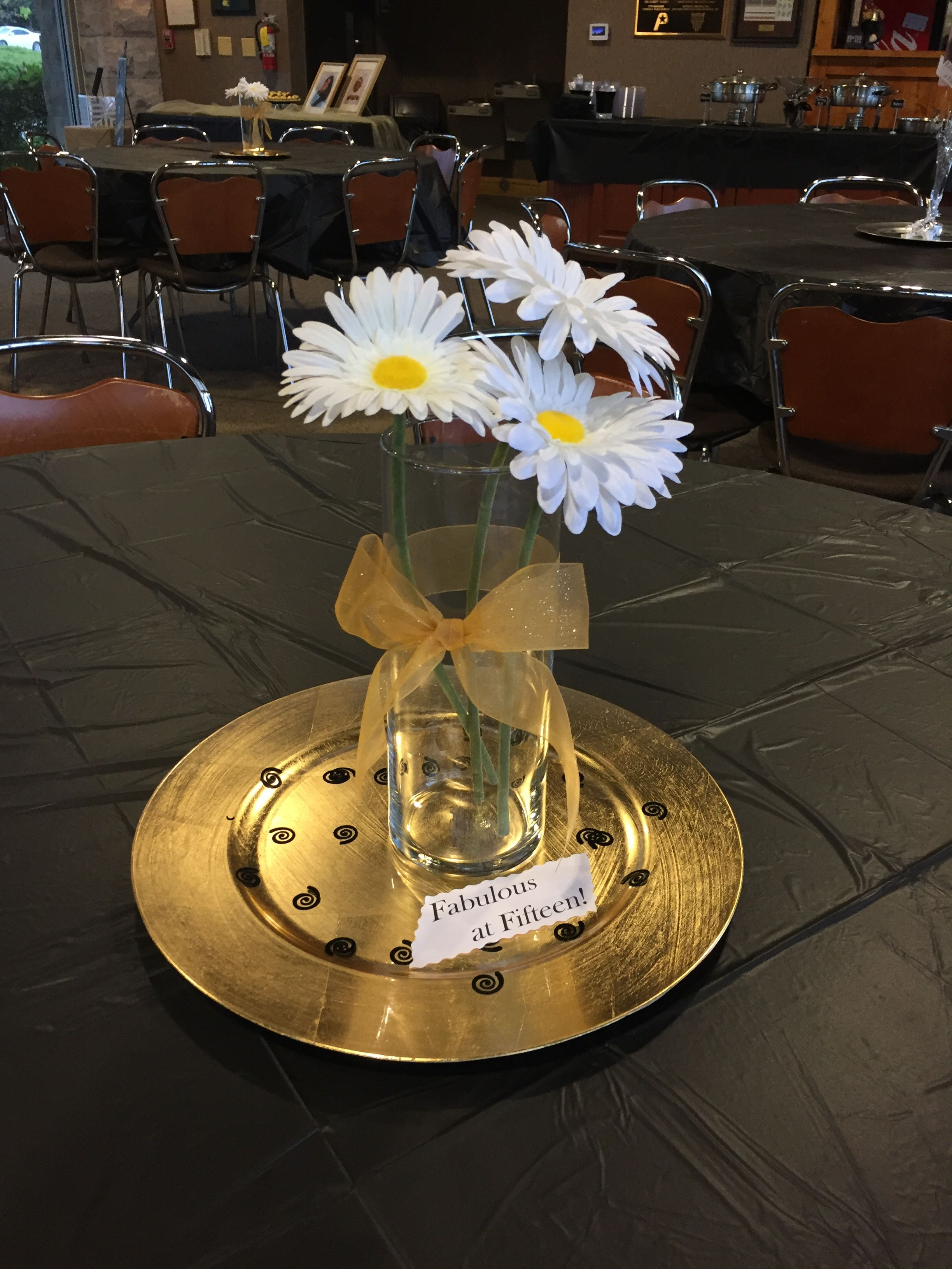Friend's daughter's 15th birthday centerpiece. Simple but ...