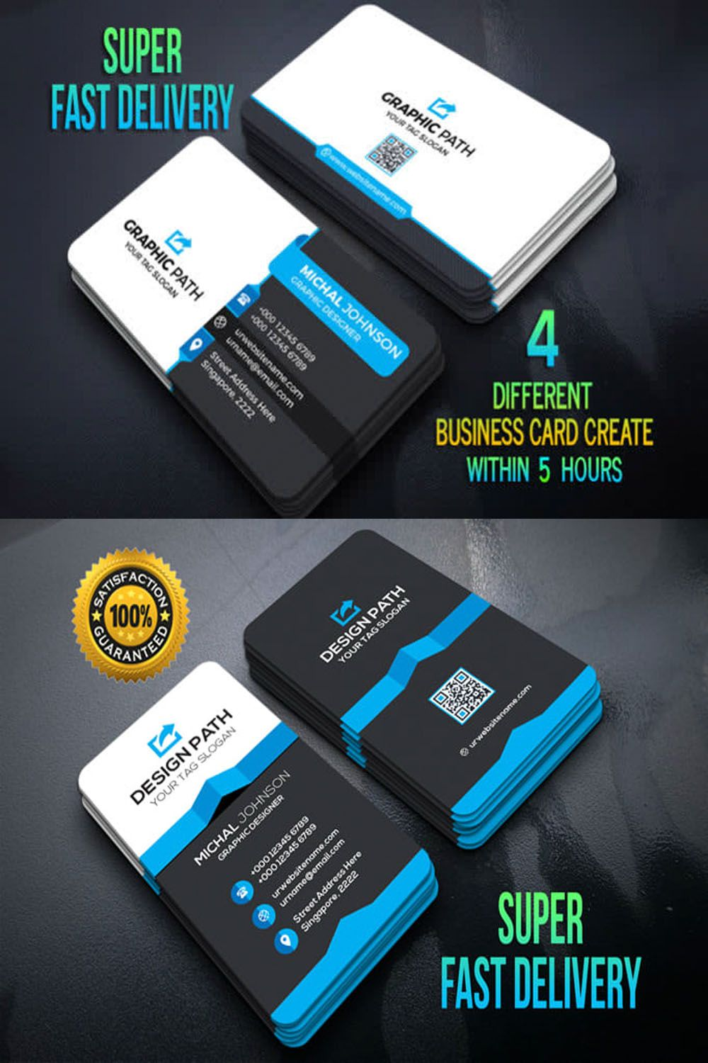 Create 4 Different Business Card Design Within 5 Hours Buisness Card Designs Unique Business Cards Beauty Business Cards Business Cards Creative