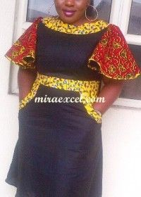 Hot Black Patchwork Dress African Style Dresses Patchwork