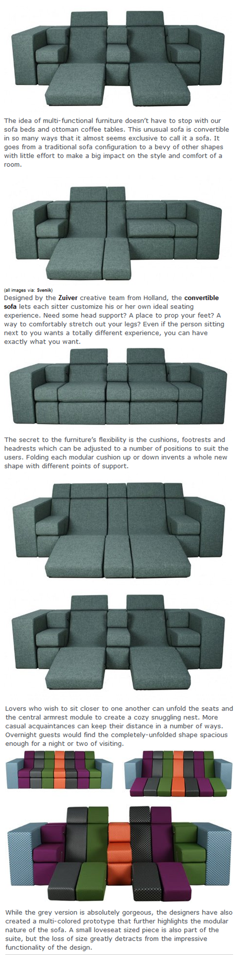 Ultimate Modular Sofa Fits in Endless Configurations   House ...