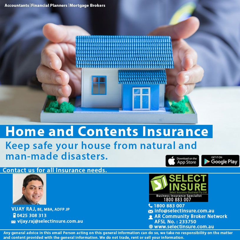 Get A Home And Content Insurance Quote With Select Insure Cover