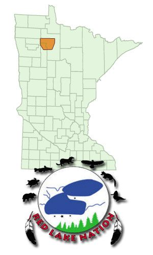 Red Lake Minnesota Map.Red Lake Logo And Map Location Red Lake Nation Minnesota
