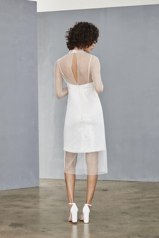 Lw131 Layered Shift Dress Little White Dresses White Dress Amsale Dress