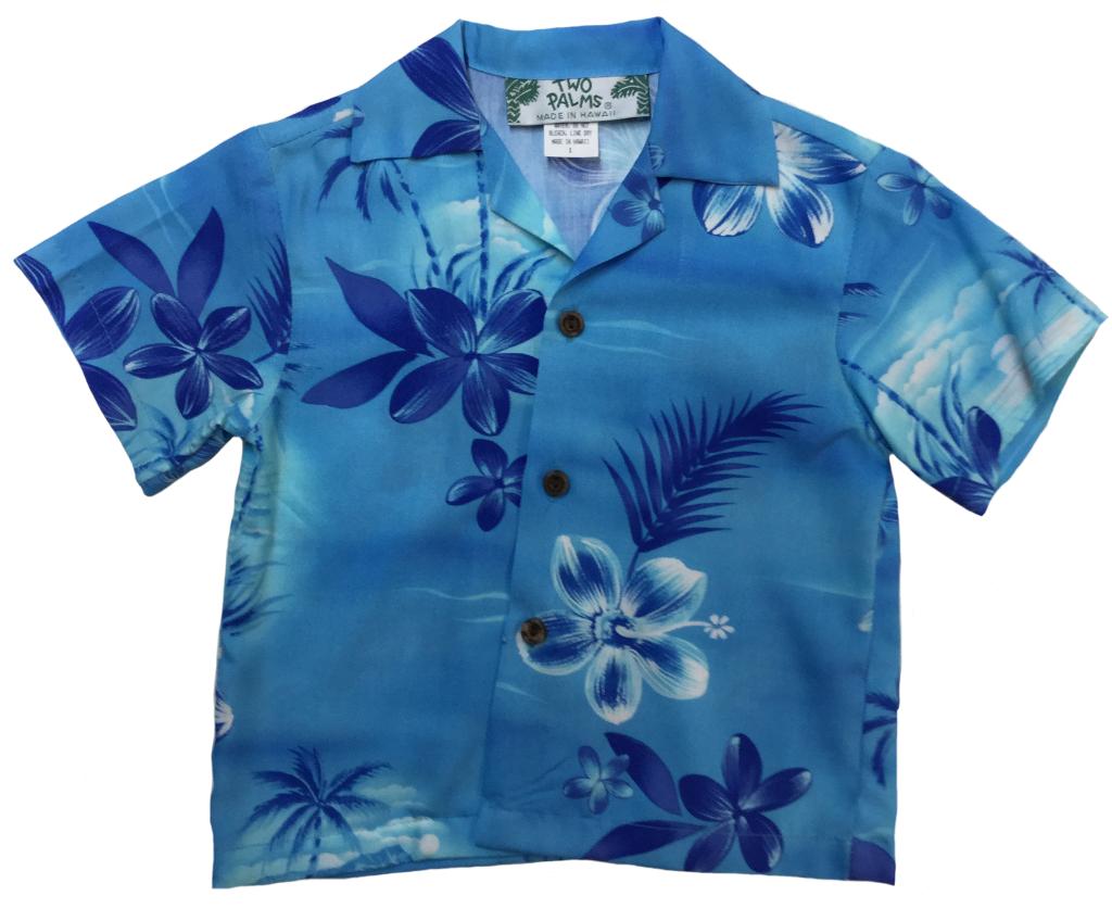 4e75601e Boys Hawaiian Shirt Moonlight Scenic Blue | Products | Boys hawaiian ...