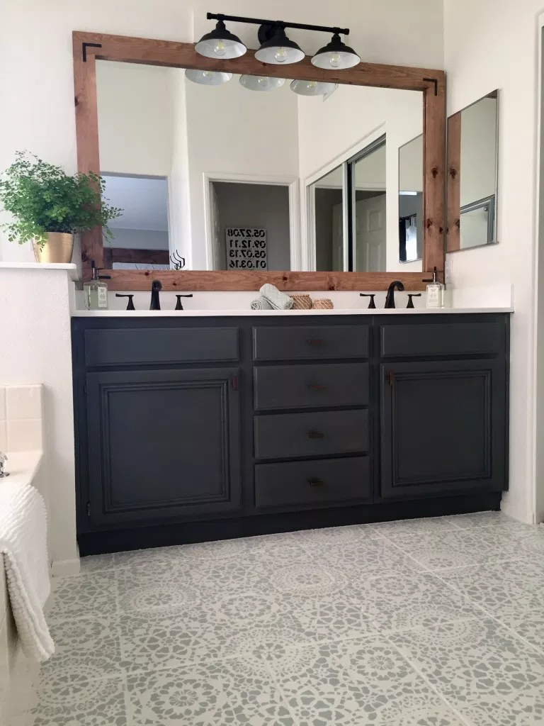Refinishing Bathroom Cabinets Tutorial   Domestic Blonde -   17 diy Bathroom cupboard ideas