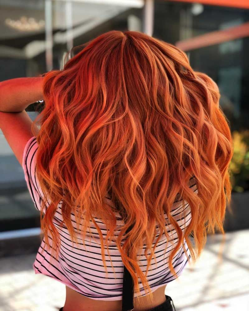 Top 20 Orange Haarfarbe Ideen 2018