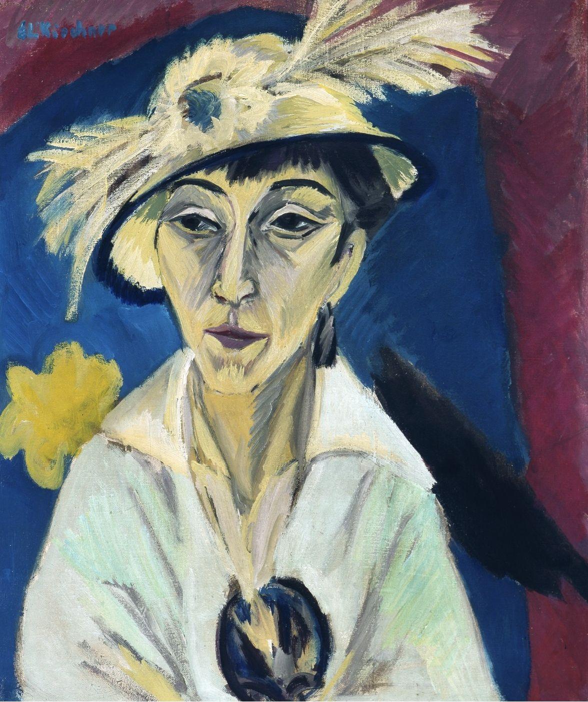 german expressionists ernst ludwig kirchner portrat der erna schilling 1913 entartete kunst idee farbe portratmalerei moderne skulpturen kaufen acryl
