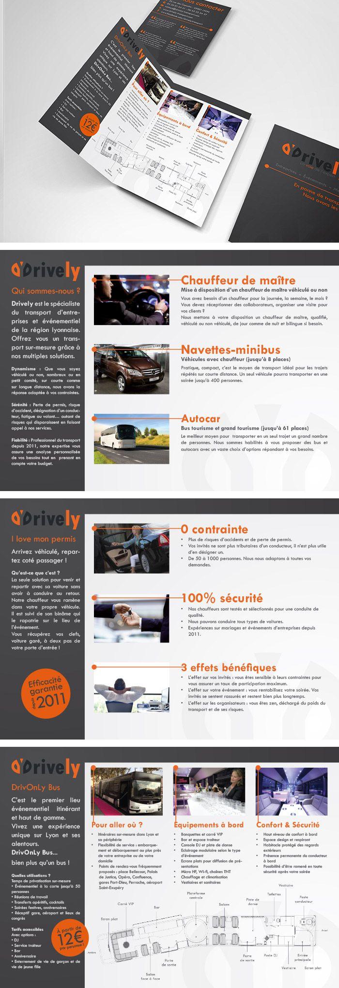 plaquette commerciale - sales leaflet - drively - soci u00e9t u00e9 de transport