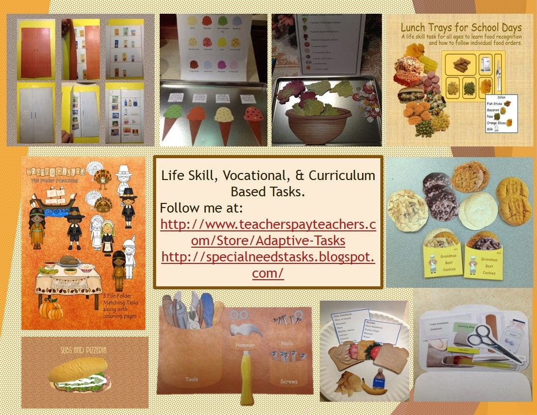 Life Skill Vocational And Curriculum Based Tasks For