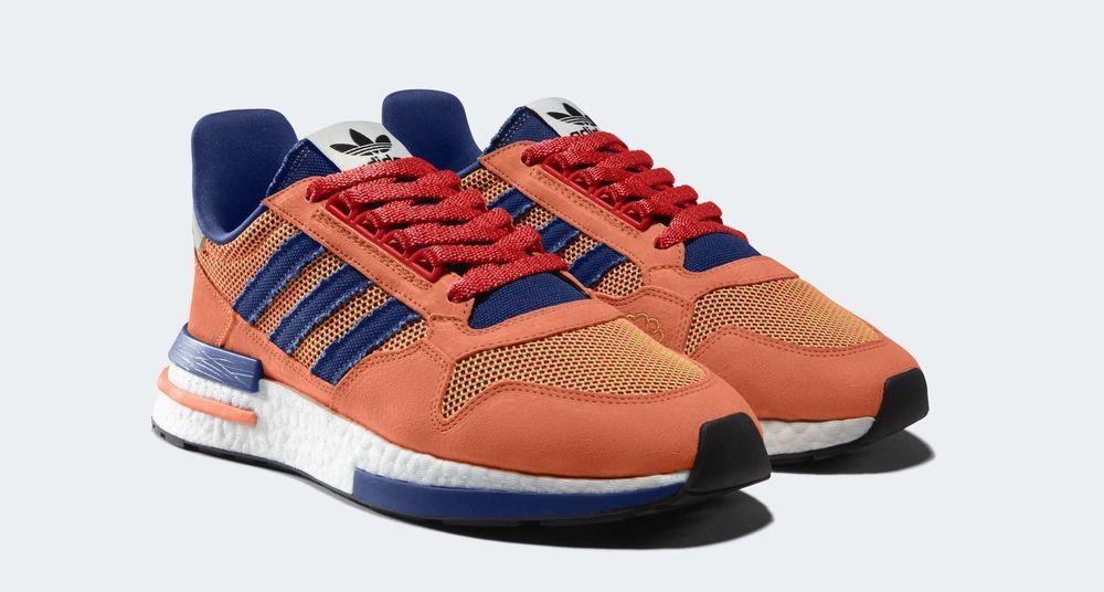 pick up b685d d9ae7 Adidas Dragon Ball Z Son Goku ZX 500 RM Orange Men's Size US ...