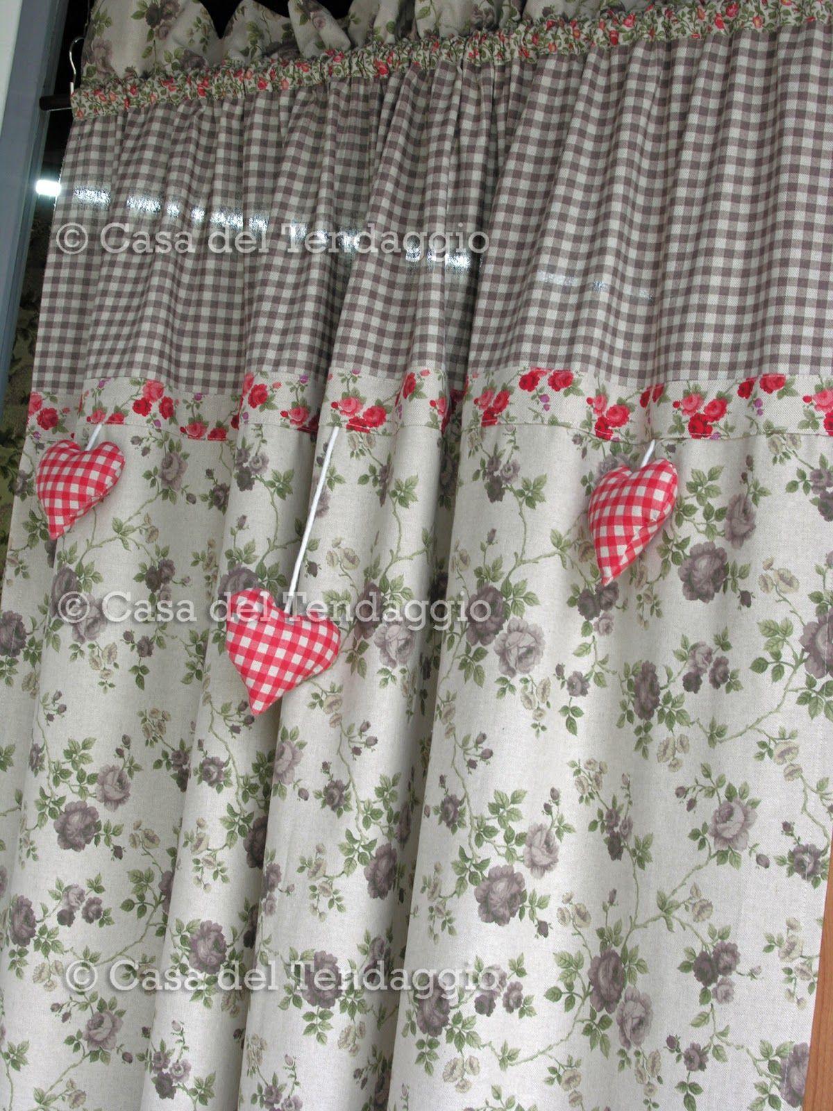 Risultati immagini per tende stile provenzale fiori e for Tende per cucina country