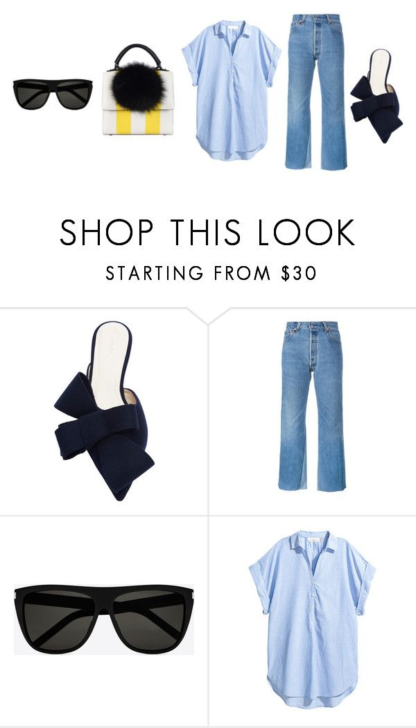 """""""ootd: spring ting"""" by nadia ❤ liked on Polyvore featuring Delpozo, RE/DONE, Yves Saint Laurent and Les Petits Joueurs"""