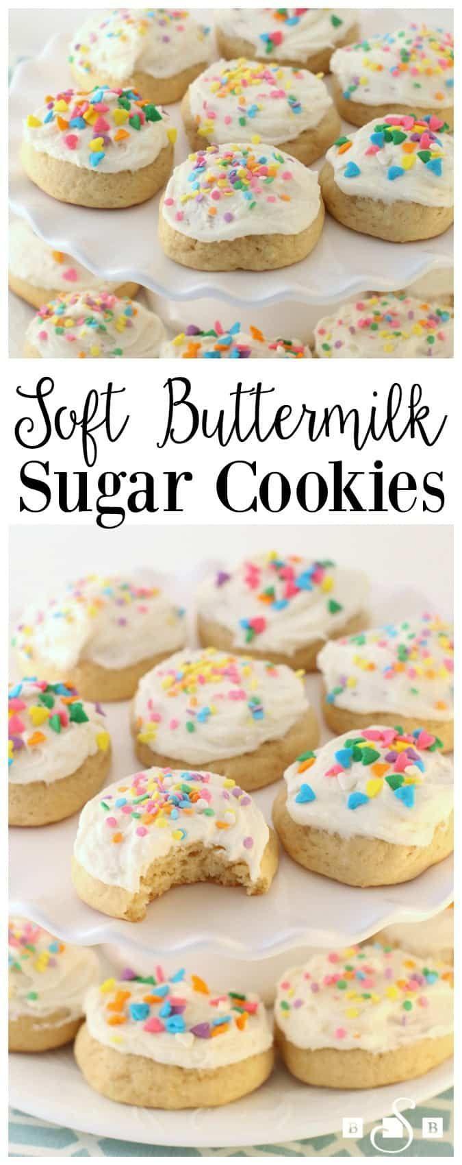 Soft Buttermilk Sugar Cookies Cookies Sugarcookies Baking Sugar Cookies Recipe Buttermilk Recipes Yummy Cookies