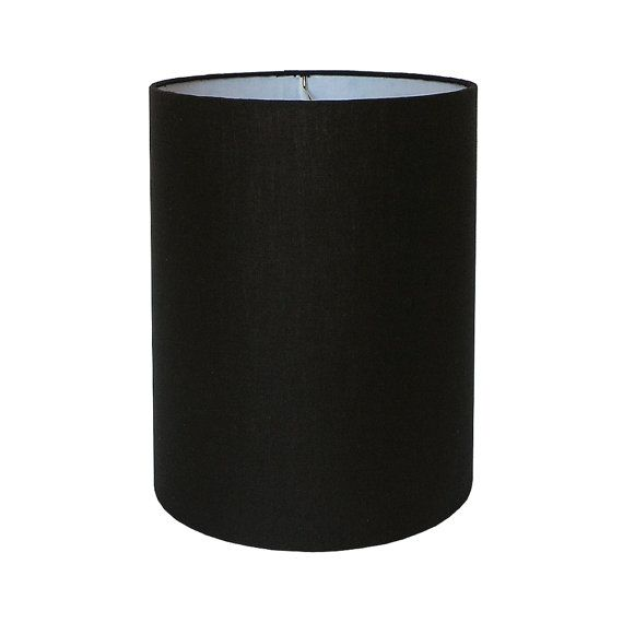 Drum Lamp Shade Constructed From Scratch And Covered With A Black Linen Fabric This Is Suitable For Shades Pendant Chandelier