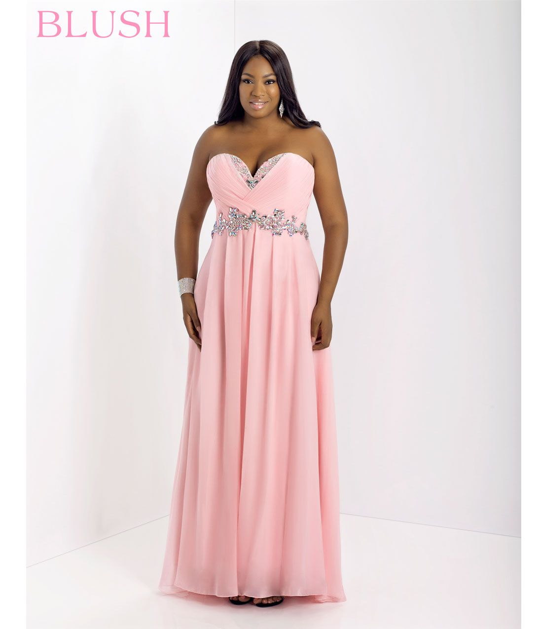 Ruby rox plus size prom dress one shoulder embellished maxi