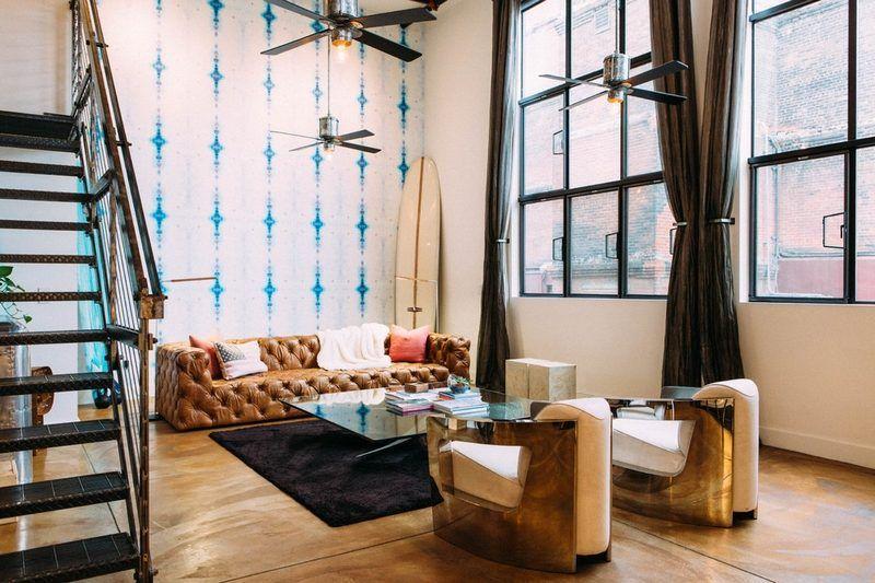 Salon Style Industriel Et Idées à Emprunter Pour Le Recréer Future - Canapé design industriel