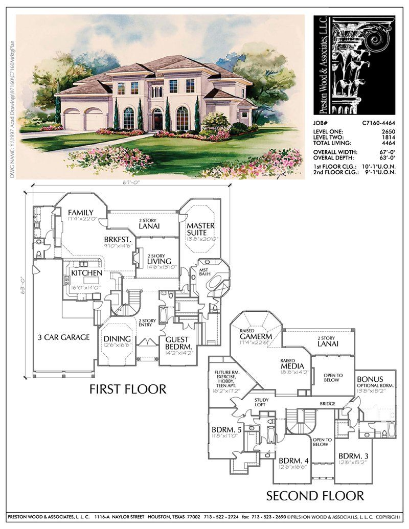 Unique Family House Plans Floor Plan Layout For Two Story Homes Deve Preston Wood Associates House Plans Home Design Floor Plans Two Story House Plans