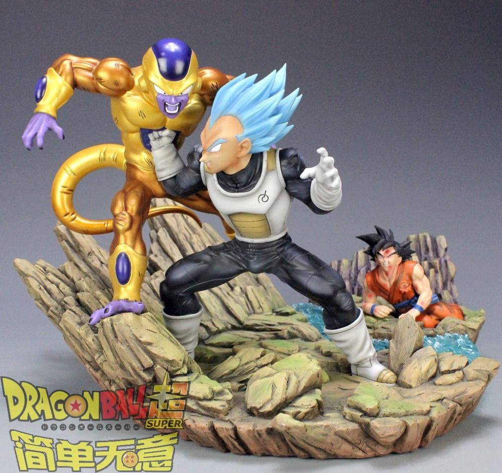 Action & Toy Figures Dragon Ball Z Dbz Super Saiyan Goku Vs Frieza Statue Gk Resin Figure In Stock
