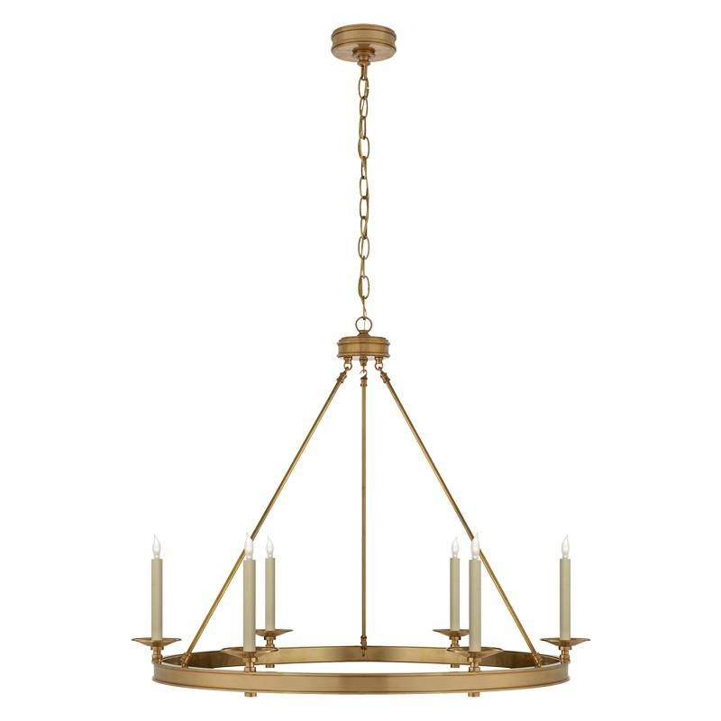 Launceton Ring Chandelier: Hand-Rubbed Antique Brass