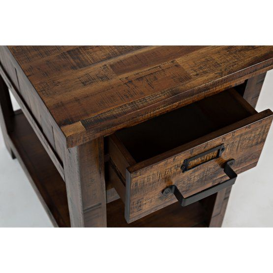 Cannon Valley One Drawer Chair Side Table Chair Side Table End
