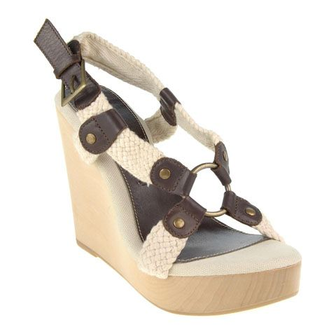 rope and leather harness-style wedge