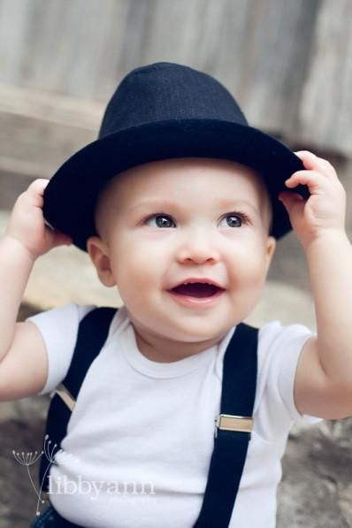 acfba77b0fe Solid Black Baby Prop Fedora Hat - CCHT111