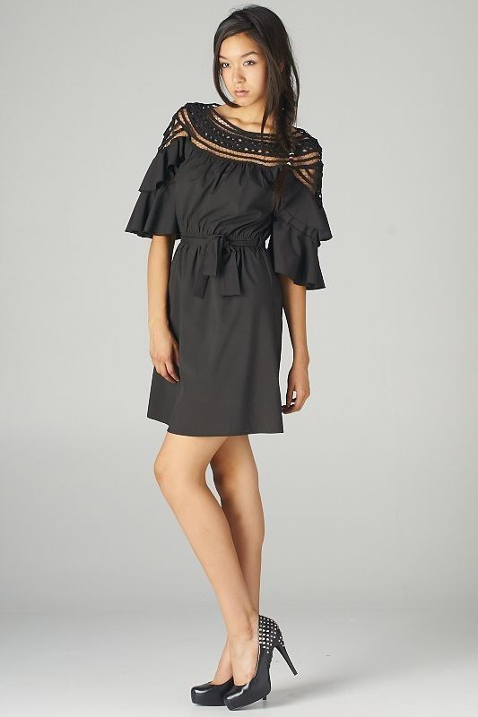 Trois Femmes Boutique  -    When In Rome Bell Sleeve Dress, $65.00 (http://www.troisfemmesboutique.com/when-in-rome-bell-sleeve-dress/)