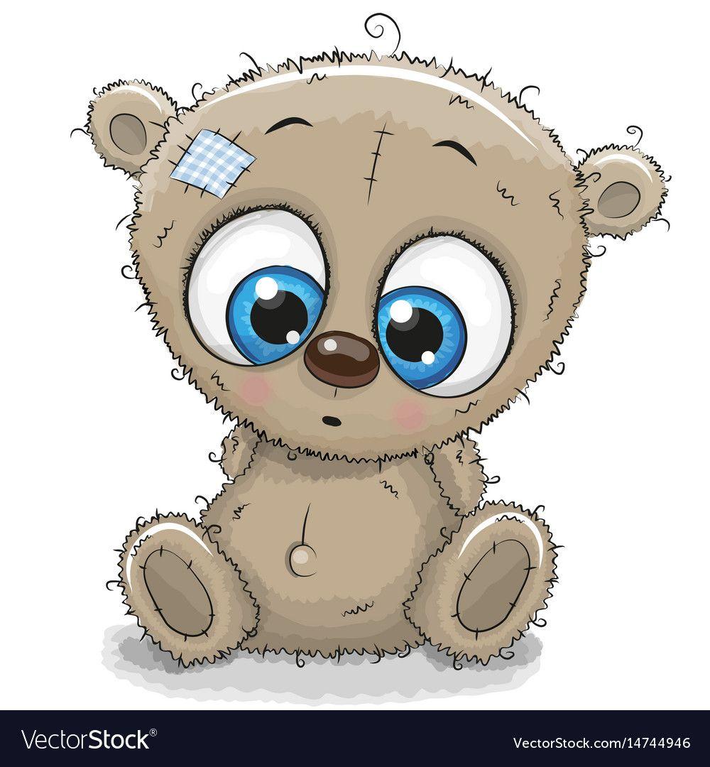Cute Cartoon Teddy Bear Royalty Free Vector Image Funny Teddy Bear Bear Vector Kitten Cartoon