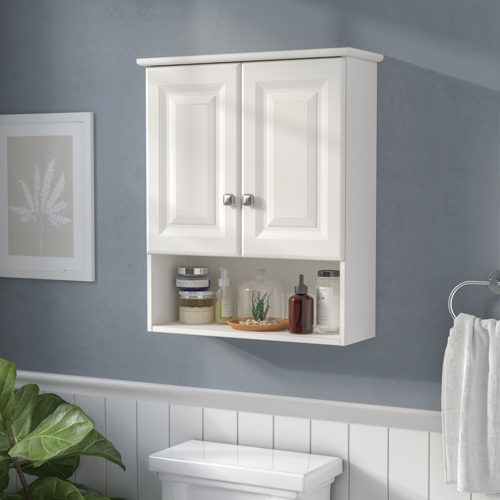 Cates 22 W X 26 H Wall Mounted Cabinet Wall Mounted Bathroom Cabinets Wall Mounted Cabinet Small Bathroom Storage [ 2000 x 2000 Pixel ]