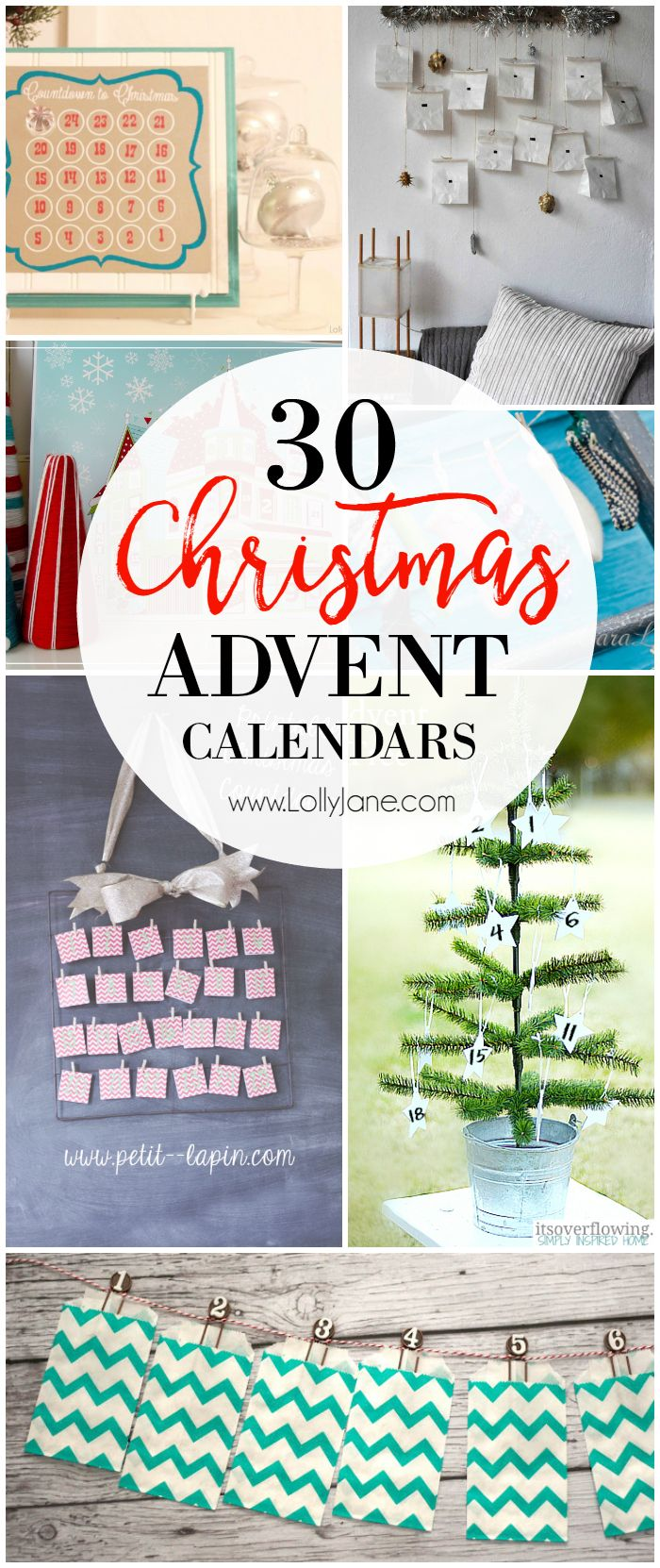 Christmas Countdown Gift Ideas Part - 18: 30 Advent Calendar Ideas! Lots Of Fun And Easy Christmas Countdown Ideas!