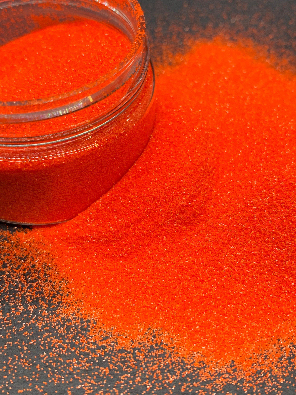 Cheeto Fingers Bright Orange Extra Fine Glitter