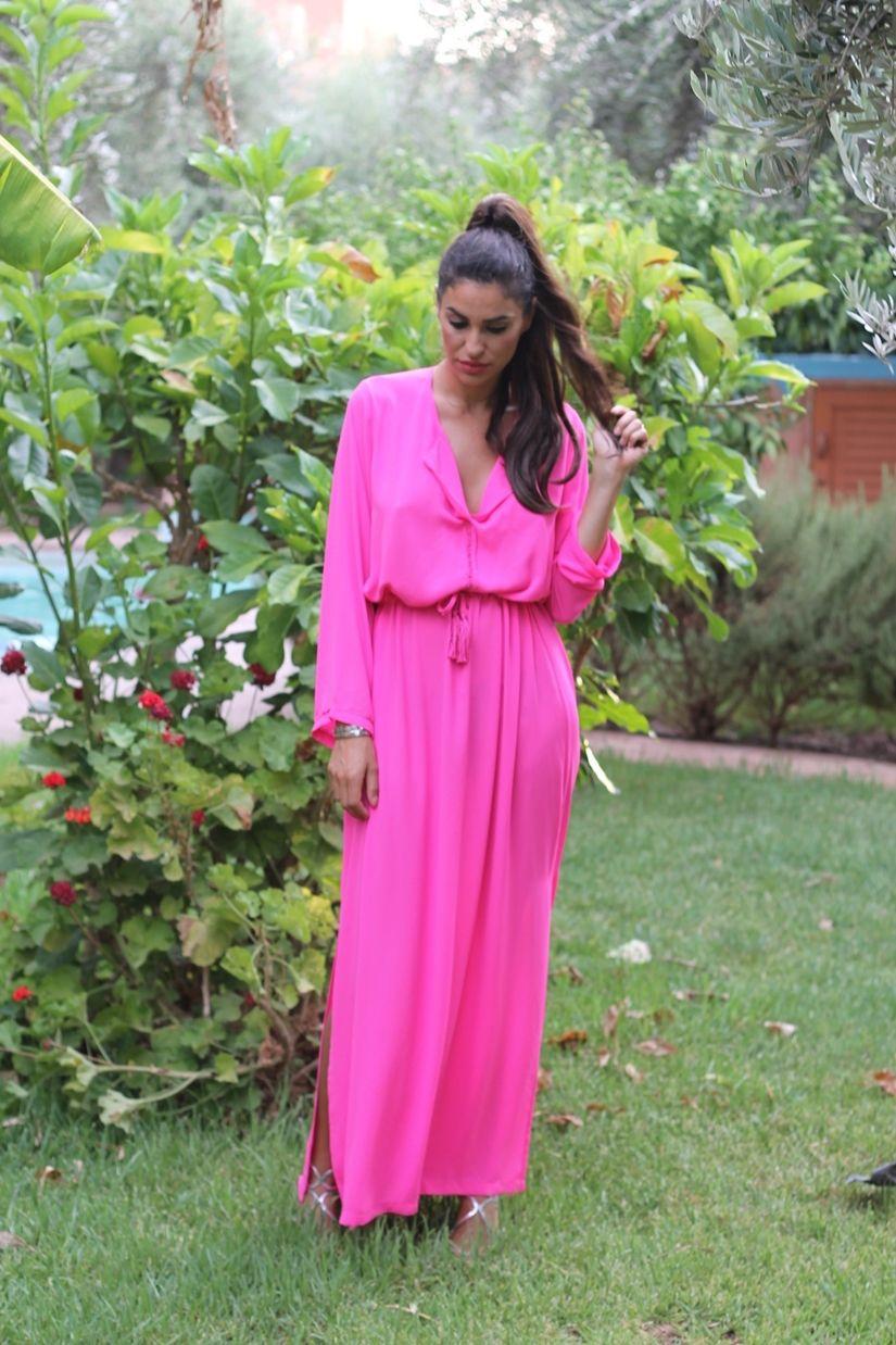 Farabian: Maxi Vestido Rosa Neon | maxivestidos | Pinterest | Nuevas ...