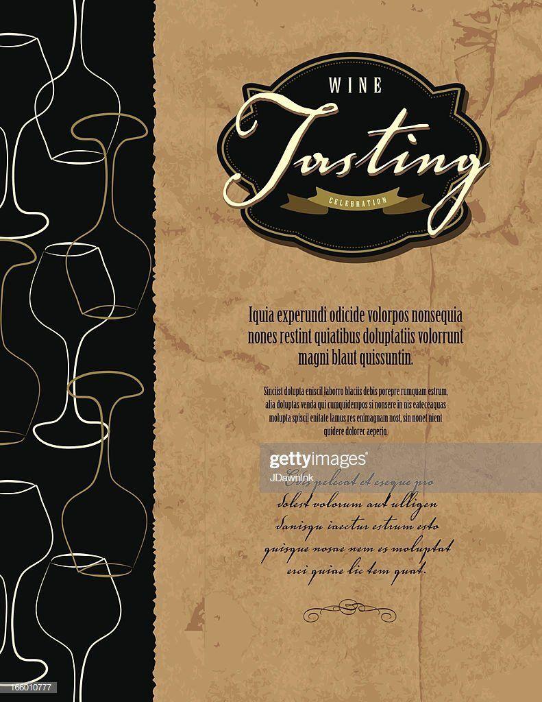 Wine Tasting Invitation Template Free Best Of Wine Tasting Invitation Menu Design Template Stock Wine Tasting Invitation