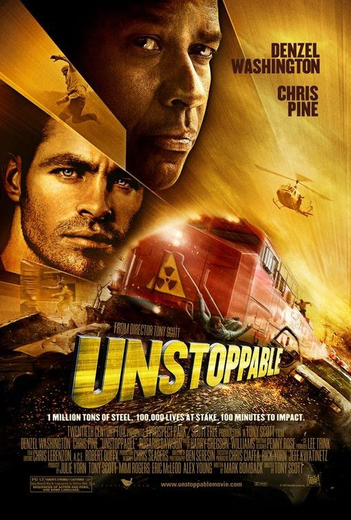 Unstoppable 2010 Denzel Washington Movie Posters Action Movies