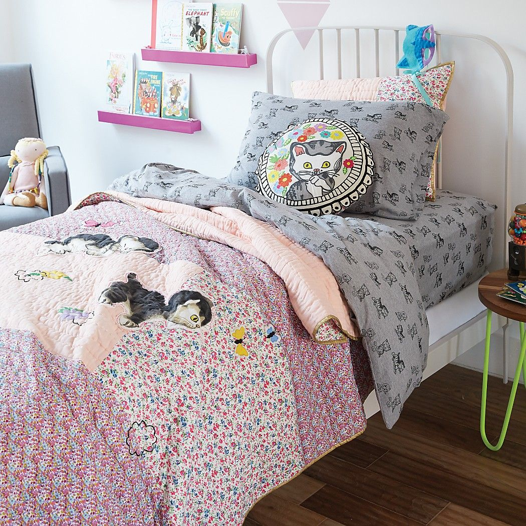 Land of Nod bedding for girls is awesome! And on sale now