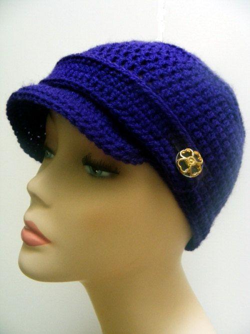 Newsboy Hat Crochet Pattern Crochet Hat Pattern Easy Crochet